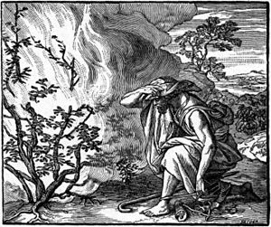 Foster Bible Pictures 0060-1 Moses Sees a Fire...