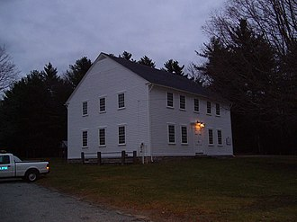 Foster, Rhode Island - Foster Town Building, c. 1796, the oldest government meeting house of its type in the United States where town meetings have been held continuously since 1801