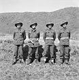 Four officers of Support Company, 3rd Battalion, Royal Australian Regiment in Korea.jpg