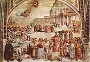 Fresco of the Deeds of the Antichrist (c.1501) in Orvieto Cathedral