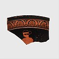 Fragment of a terracotta calyx-krater (bowl for mixing wine and water) MET DP117000.jpg