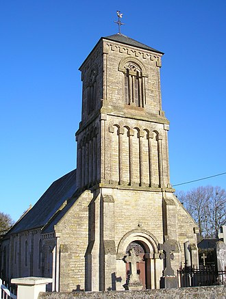 Bucéels - The church in Bucéels