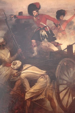 Louis William Desanges - Lt Francis Farquharson winning his Victoria Cross at the Battle of Lucknow, 1858 by Louis William Desanges