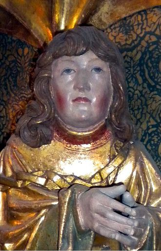 Francis of Denmark - Sculpture of Prince Francis from the altarpiece by Claus Berg at St. Canute's Cathedral, Odense (c. 1530)