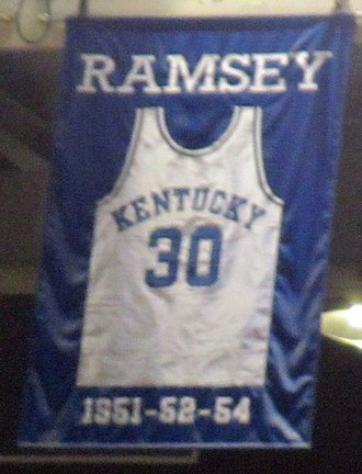 Frank Ramsey (basketball) - A jersey honoring Ramsey hangs in Rupp Arena.