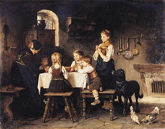 Franz Defregger - Image: Franz von Defregger Grace Before Meal