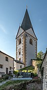 Frauenstein Kraig Kirchweg 6 Wehrturm mit Friedhof Ost-Ansicht 17092018 4754.jpg
