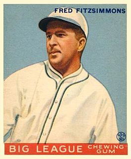 Freddie Fitzsimmons American baseball player and manager