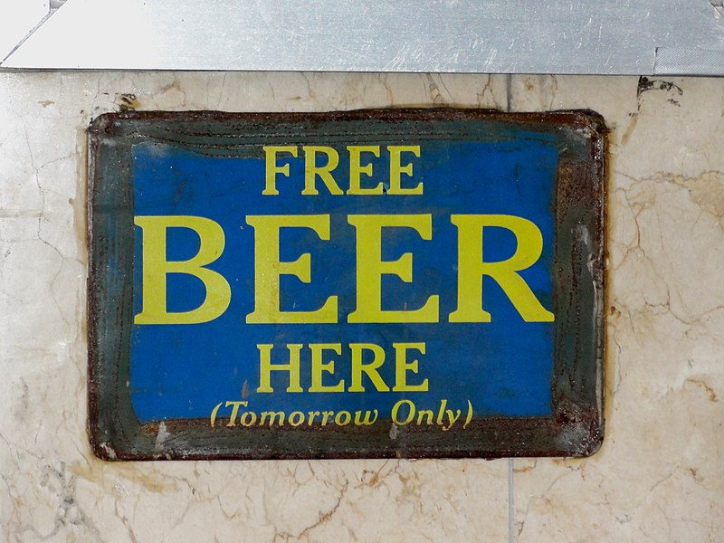 Free Beer Here (tomorrow)