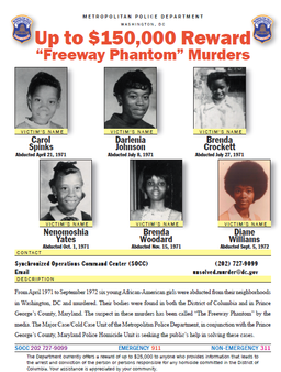 Freeway Phantom reward poster