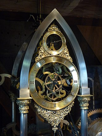 Jean-Baptiste Schwilgué - Image: Freiburg Minster clockwork by Schwilgué (1851)