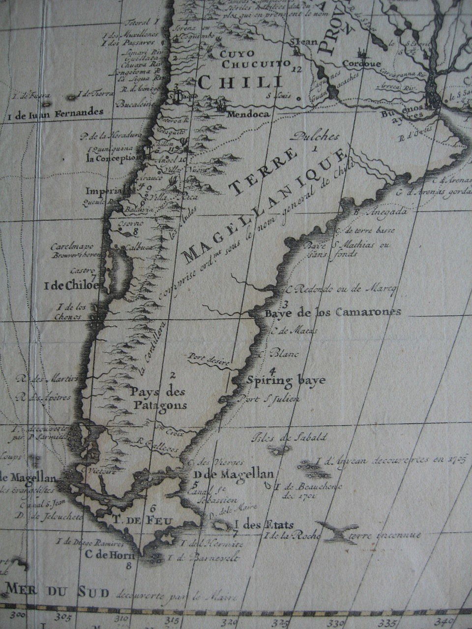 French map of South America, c. 1710