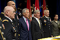 From left, U.S. Army Col. Arthur Wittich, Chief of Staff of the Army Gen. Ray Odierno, Secretary of Defense Chuck Hagel, Secretary of the Army John McHugh and Sergeant Major of the Army Raymond Chandler sing 130613-D-BW835-125.jpg