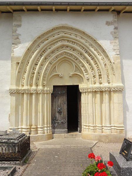 Froville (M-et-M) Prieuré, église portail