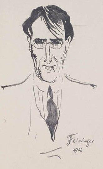 Lyonel Feininger - Lyonel Feininger by Emil Orlik, 1906