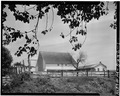 GENERAL VIEW - Large Barn, Old Creek Road (Wallace Township), Glenmoore, Chester County, PA HABS PA,15-GLENOR,1A-1.tif