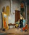 Gaetano Bellei, Francesco Raibolini, detto il Francia, che nella sua bottega ammira per la prima volta la Santa Cecilia di Raffaello, olio su tela, 1876.jpg