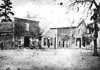History of Gainesville, Florida - Downtown Gainesville on Alachua Avenue (now University Avenue) circa 1882