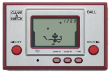 « Ball », sorti en 1980 et premier « Game and Watch », a été inclus dans la compilation « Game Boy Gallery » en 1995.