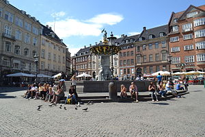 Gammeltorv - Gammeltorv with the Caritas Well