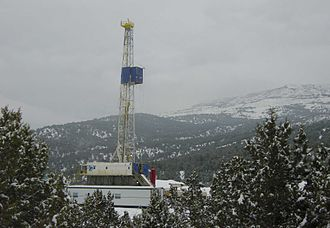 Piceance Basin - Drilling for natural gas in the Rulison Field, south of Rifle, Colorado.