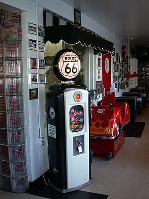 Braidwood, Illinois - Vending machine shaped like a gas pump at the Polk-A-Dot Drive-In in Braidwood.