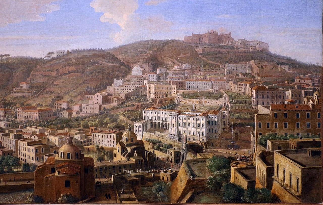 Gaspar van wittel, veduta di napoli con il borgo di chiaia da pizzofalcone, 1700-10 ca. 02.JPG