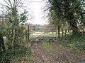 Gate entrance in Blendworth Lane - geograph.org.uk - 1200746.jpg