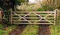 Gates and track near Downpatrick - geograph.org.uk - 2172137.jpg