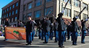 Gator Guard Drill Team - Gator guard performing at Mardi Gras parades, 2016.