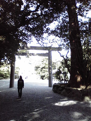 This is an entrance of Geku (Ise Grand Shrine).