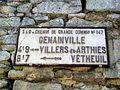 Genainville (95), vieille plaque, rue du Vieux moulin (RD 47).jpg