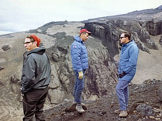 William Anders - Anders with Icelandic geologist Sigurður Þórarinsson and Dr. Ted Foss during geology training in Iceland in 1967