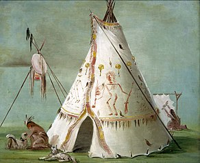 Crow Lodge of Twenty-five Buffalo Skins