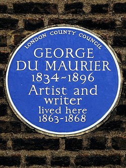 George du maurier 1834 1896 artist and writer lived here 1863 1868