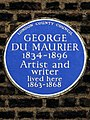 George Du Maurier 1834-1896 artist and writer lived here 1863-1868.jpg