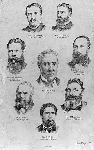 Grey Ministry, 1877–1879 - Image: George Grey and his Cabinet