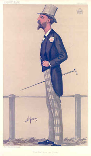 "George Herbert, 13th Earl of Pembroke - ""The Earl and the Doctor"" Herbert as caricatured by Ape (Carlo Pellegrini) in Vanity Fair, July 1888"