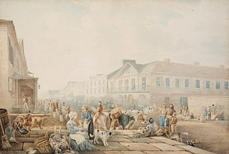 George Street, Sydney - George Street (1842) by Henry Curzon Allport