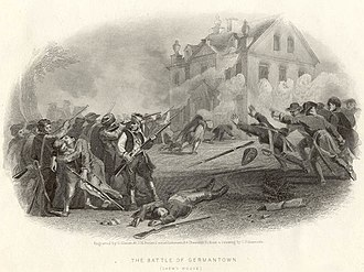 Cliveden (Benjamin Chew House) - Fighting during the Battle of Germantown