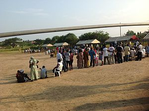 Ghanaian general election, 2012 - Image: Ghanaians line up to vote in 2012 general elections