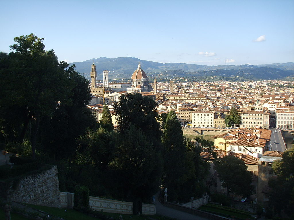 Giardino bardini, view on Florence