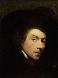 Self portrait of Gilbert Stuart, Painted in 1778. Stuart was born in North Kingstown.