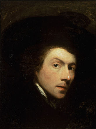 North Kingstown, Rhode Island - Self portrait of Gilbert Stuart, painted in 1778