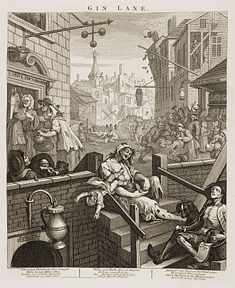 Convicts in Australia - William Hogarth's Gin Lane, 1751
