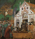 Giotto - Legend of St Francis - -23- - St Francis Mourned by St Clare.jpg