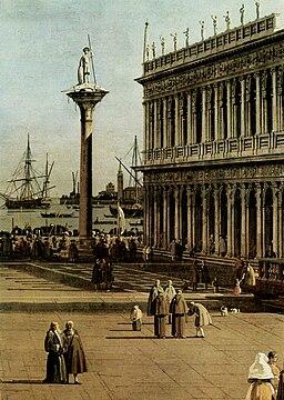 Giovanni Antonio Canal - The Piazzetta (detail) (Galleria Nazionale d'Arte Antica, Rome)