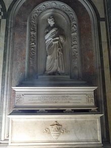 La tomba del Giusti nella Basilica di San Miniato al Monte a Firenze.