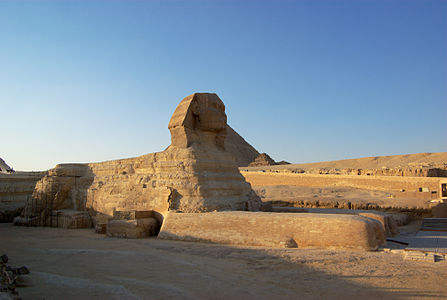 The Great Sphinx of Giza in the evening light