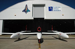 Virgin Atlantic GlobalFlyer - GlobalFlyer at the Kennedy Space Center